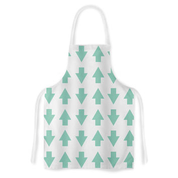 """Project M """"Arrows Up and Down Mint"""" Artistic Apron"""