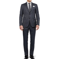 Etro Slim-Fit Check Wool and Silk-Blend Suit | MR PORTER