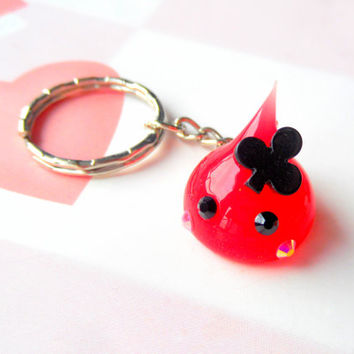 Club Charm Hoppe Chan Poker Charm, Kawaii Keychain, Playing Cards Gamble Charm, Cute Bag Charm Tamagotchi, Nintendo 3DS, PS Vita, Poker Gift