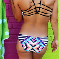 Rip Curl Heart's Desire Hipster Multi Color Bikini Bottom