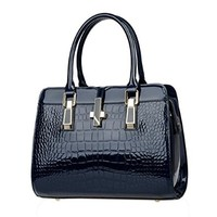 Women's Retro Crocodile Pattern Tote Bags Top Handle Handbags