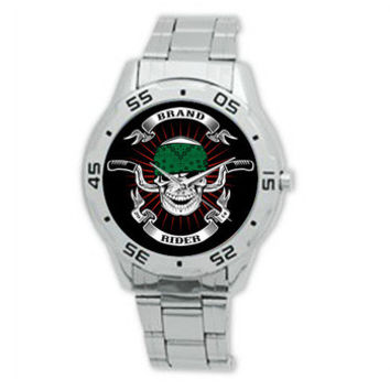 Fashion Watches Custom Skull Biker Rider Stainless Steel Watch ~ for Harley Davidson Biker Style ML1067