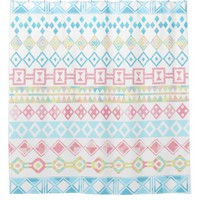 Aztec Tribal Pastel Shower Curtain