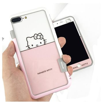 cute cartoon pink hello kitty phone case for  iphone6/6s/7/8/plus