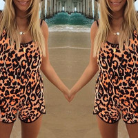 Cheetah Rave Romper