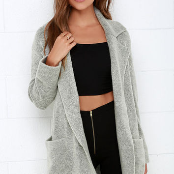 Dublin Dew Grey Oversized Sweater Jacket