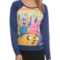 Adventure Time Mountain Jump Girls Pullover Top