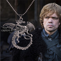 Song Of Ice And Fire Necklace Game Of Thrones Necklace Targaryen Dragon Badge Necklace