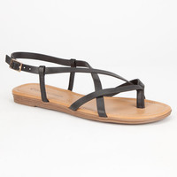 City Classified Spica Womens Sandals Black  In Sizes