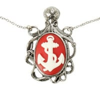 LOVEsick Anchor Octopus Cameo Necklace