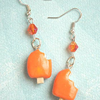 Orange Dreamsicle Dangle Earrings