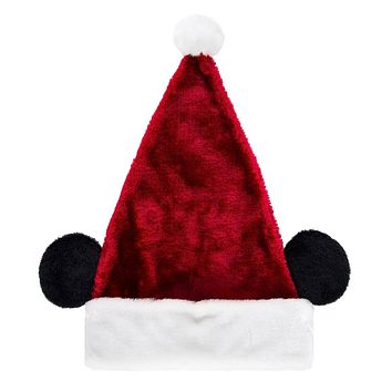Disney Parks Christmas Mickey Santa Plush Ear Hat New with Tags