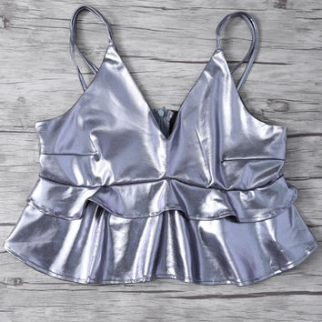 Metallic Color Cami Top