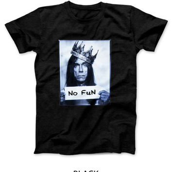 Iggy Pop No Fun Expression Mens T Shirt