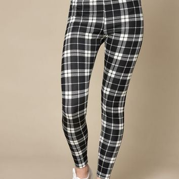 LA Hearts Plaid Leggings at PacSun.com