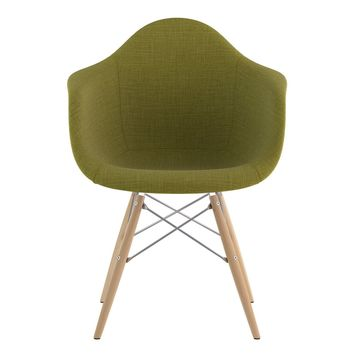 Mid Century Dowel Arm Chair Avocado Green