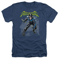 BATMAN/NIGHTWING - ADULT HEATHER - NAVY -
