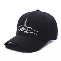 2017 Smoking Embroidery Brand Baseball Cap Snapback Caps Sports Leisure Hats Fitted Casual Gorras Dad Hats For Men Women