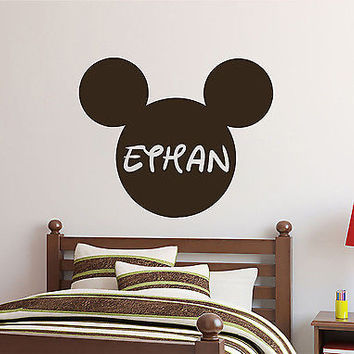 Mickey Mouse Wall Decals Personalized Name Girl Decal Nursery Room Decor DS408