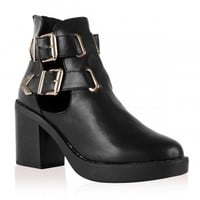 Layla Cut Out Heel Boots