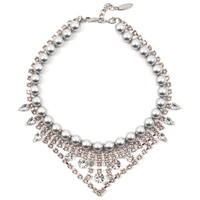 Joomi Lim Exclusive Crystal & Pearl Necklace - Vintage Rose/ Crystal/ Light Grey