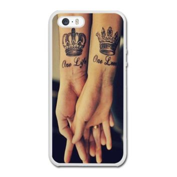 Love Qutoe Series One Life One Love Forever Tattoo iPhone 5/5S Rubby Case - iPhone 5/5S Rubby Case