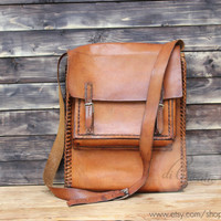 School messenger bag genuine leather messenger bag school crossbody bag brown leather laptop bag school shoulder bag vintage men bags