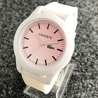 """Lacoste"" Popular Couple Cute Silicone Movement Quartz Watch Wristwatch White"