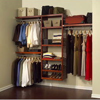 John Louis Deluxe Red Mahogany Closet System | Overstock.com