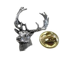 Fallow Deer Head Lapel Pin [Jewelry]