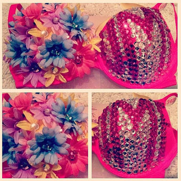 Daisy Wanderlust rave bra by WanderlustCouture on Etsy