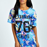 Kim Florida T Shirt Dress