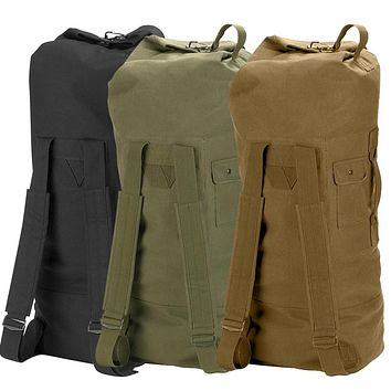 Rothco G.I. Style Canvas Double Strap Duffle Bag
