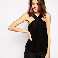 ASOS V Neck Wrap Shell Top