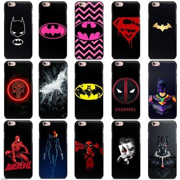 Deadpool Dead pool Taco Marvel pink batman  daredevil Punisher Black widow Super logo phone Case For iPhone 7 5S SE 4S 6s 8 Plus X Soft TPU case AT_70_6