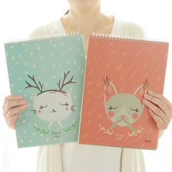 new cartoon hand-drawn sketch this 16k blank sketchbook coil art note book A4 drawing book