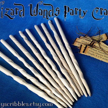 10 DIY Wizard Wands Craft for Parties Plus Tags & Digital Book