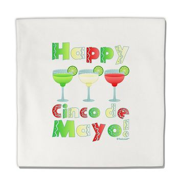 "Margaritas - Mexican Flag Colors - Happy Cinco de Mayo Micro Fleece 14""x14"" Pillow Sham by TooLoud"
