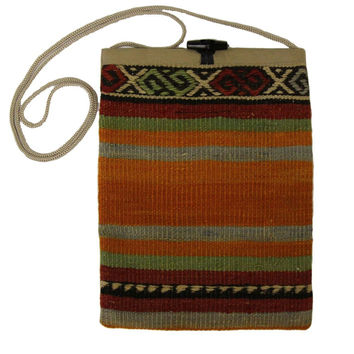 Shante Multi Striped Pattern Kilim Bag