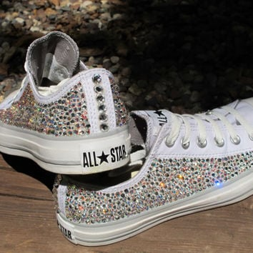 e8ec38776533 Rhinestone Converse AllStars NOT from TheSparklingEffect on Etsy