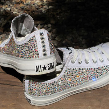 4343326dfc72 Rhinestone Converse AllStars NOT from TheSparklingEffect on Etsy