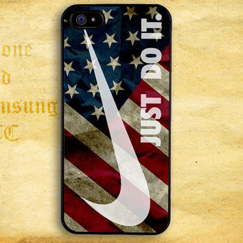 Just Do US Flag Design for iPhone  4 4s 5 5s 5c iPod 4 5 Touch and Samsung Galaxy s3 s4 s5 Case