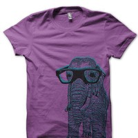 3D Elephant With Glasses in Fusia Yellow Blue Galaxy by urbarian