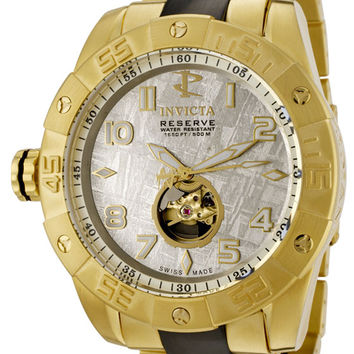 Invicta 0219 Men's Pro Diver Collection Reserve Automatic 18k Gold-Plated Watch