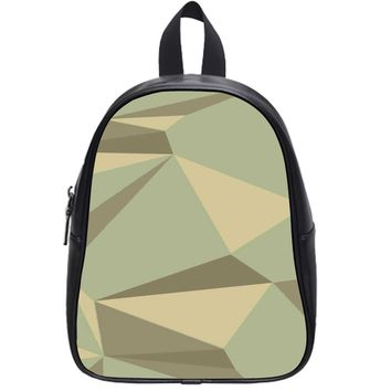 Pastel Abstract Triangel School Backpack Large