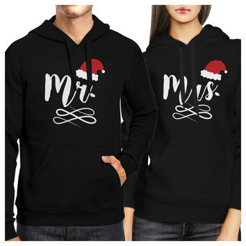 Mr And Mrs Christmas Hat Couple Hoodies Cute Christmas Gifts Ideas
