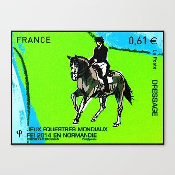 2014 FEI World Equestrian Games in Normandy DRESSAGE Canvas Print by lanjee