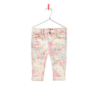 floral print jeans - Trousers and skirts - Baby girl - Kids - ZARA United States
