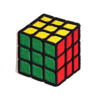 Rubik Cube Iron on Patch