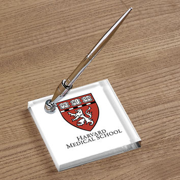 Harvard Medical School Acrylic Pen Holder